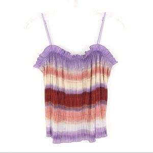 ✨FINAL SALE✨Madewell Micropleat Tank in Ombre (D2)